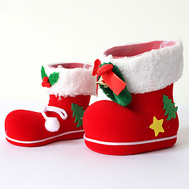 Christmas Shoe.11 12 Christmas Home Party Decor Santa Claus Boot Shoes Stocking Kids Child Candy Gift Holder Bags Xmas Tree Decoration