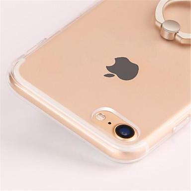 Недорогие Кейсы для iPhone 7-Кейс для Назначение Apple iPhone 8 Pluss / iPhone 8 / iPhone 7 Plus Кольца-держатели / Прозрачный Кейс на заднюю панель Однотонный Мягкий ТПУ