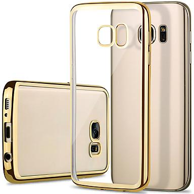 غطاء من أجل Samsung Galaxy S7 edge / S7 / S6 edge تصفيح / شفاف غطاء خلفي لون سادة TPU
