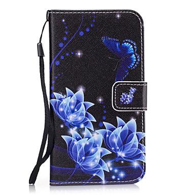 Недорогие Чехлы и кейсы для Galaxy S4 Mini-Кейс для Назначение SSamsung Galaxy S8 Plus / S8 / S7 edge Кошелек / Бумажник для карт / со стендом Кейс на заднюю панель Цветы Твердый Кожа PU
