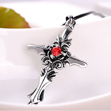 Недорогие Ожерелья-Муж. Ожерелья с подвесками Классический Кожа Белый Красный Ожерелье Бижутерия Назначение Новогодние подарки День рождения Повседневные