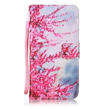 voordelige Galaxy J-serie hoesjes / covers-hoesje Voor Samsung Galaxy On 5 / J7 (2016) / J5 (2016) Portemonnee / Kaarthouder / Flip Volledig hoesje Bloem Hard PU-nahka