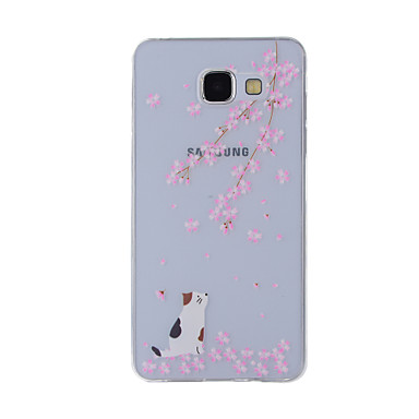 big sale a8a46 d20c1 [$3.99] For Samsung Galaxy A8 (2016) A8 Case Cover Cherry Cat Painted  Pattern TPU Material Phone Case for A7 A5 A3 A510 A310