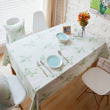Cotton Blend Rectangular Table Cloth Patterned Eco Friendly Table