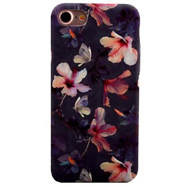 voordelige iPhone-hoesjes-hoesje Voor Apple iPhone 8 Plus / iPhone 8 / iPhone 7 Plus Patroon Achterkant Bloem Hard PC