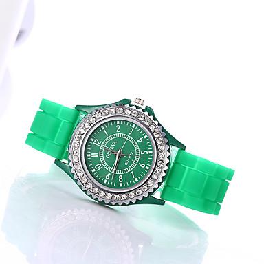 6b19d1ee Dame Armbåndsur Diamond Watch Quartz Silikon Svart / Hvit / Blå Imitasjon  Diamant / Analog damer Glitrende Mote - Blå Rosa Lyseblå Ett år Batteri  Levetid ...
