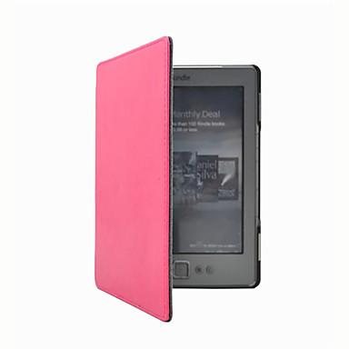 povoljno Kućišta/futrole za Kindle-Θήκη Za Kindle 5 / Amazon Kindle 4 Cijeli tijelo Slučajevi Korice Jedna barva Tvrdo PU koža