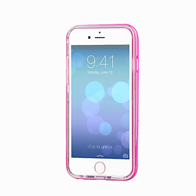 voordelige iPhone-hoesjes-hoesje Voor Apple iPhone 8 Plus / iPhone 8 / iPhone 7 Plus LED-knipperlicht / Transparant Achterkant Effen Zacht TPU