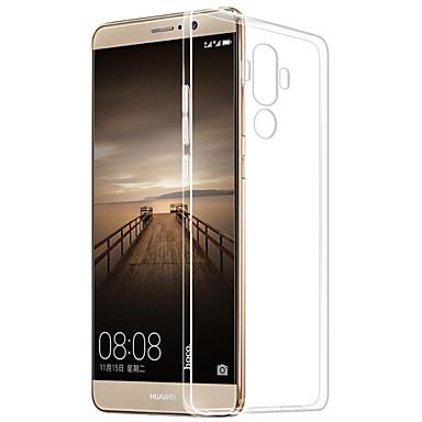 olcso Huawei P sorozat tokok/borítók-Case Kompatibilitás Huawei Mate S / Huawei P9 / Huawei P9 Lite Huawei P9 Plus / Huawei P9 Lite / Huawei P9 Átlátszó Fekete tok Egyszínű Puha TPU