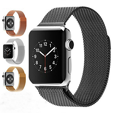 abordables Correas para Apple Watch-pulsera de bucle milanesa banda de acero inoxidable para apple watch series 1/2/3 42mm 38mm correa de pulsera para iwatch series 4 / iwatch series 5 40mm 44mm
