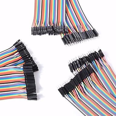 univerzalni muški na muški / ženski / muški u ženski ženski DuPont kablova postavljenih za Arduino
