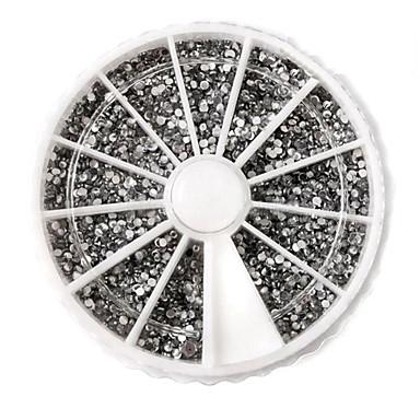 3600 pcs Încântător Teracotă Nail Art Kit Bijuterie unghii Ștrasuri Pentru deget nail art pedichiura si manichiura Zilnic Abstract / Punk / Nuntă / Unghiul de bijuterii