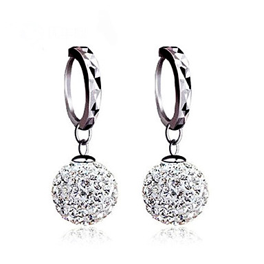 Women S Stud Earrings Ball Sterling Silver Cubic Zirconia Imitation Diamond Clic Basic For Wedding Party Daily 2431644