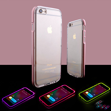 voordelige iPhone-hoesjes-hoesje Voor Apple iPhone 8 Plus / iPhone 8 / iPhone 6s Plus LED-knipperlicht / Transparant Achterkant Effen Zacht TPU