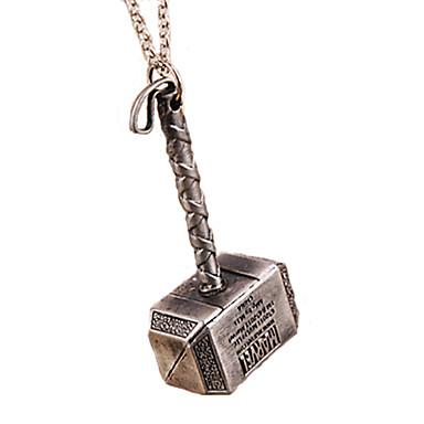 Недорогие Ожерелья-Ожерелье Ожерелья с подвесками Бижутерия Повседневные / Спорт Мода Сплав Серебряный 1шт Подарок