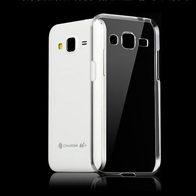 olcso Galaxy J tokok-Case Kompatibilitás Samsung Galaxy J7 (2016) / J7 / J5 (2016) Átlátszó Fekete tok Egyszínű TPU
