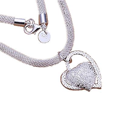 silver halsband dam hjärta