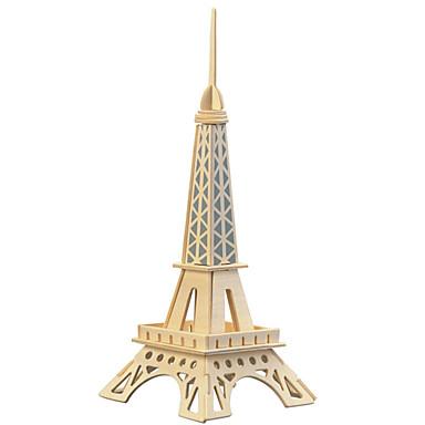 olcso 3D Puzzle-Fából készült építőjátékok Játékok Torony Népszerű épület Eiffel-torony szakmai szint Fa Vas Fiú Lány 1 Darabok