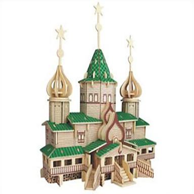 olcso Mikulás ruhák-Építőkockák Fából készült építőjátékok Építési készlet játékok Harcos Népszerű épület szakmai szint Fa 1 pcs Orosz Gyermek Felnőttek Fiú Lány Játékok Ajándék / Fejlesztő játék