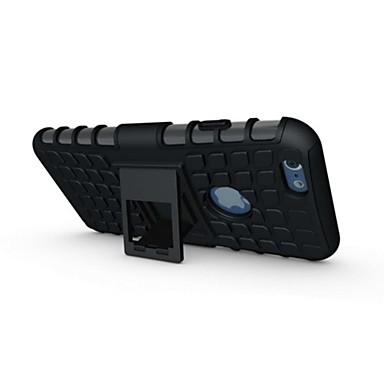 voordelige iPhone 5 hoesjes-hoesje Voor Apple iPhone 7 Plus / iPhone 7 / iPhone 6s Plus Schokbestendig / met standaard Achterkant Schild Zacht Siliconen