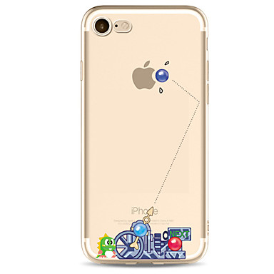 voordelige iPhone 5 hoesjes-hoesje Voor Apple iPhone X / iPhone 8 Plus / iPhone 8 Ultradun / Patroon Achterkant Cartoon / Punk Zacht TPU
