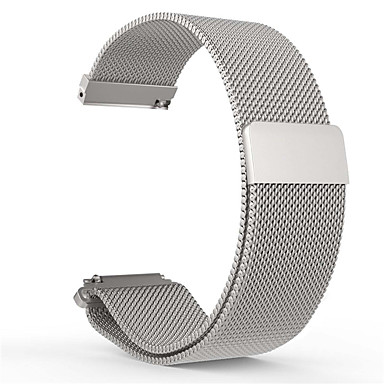 voordelige Horlogebandjes voor Pebble-Horlogeband voor Pebble Time Round Pebble Milanese lus Roestvrij staal Polsband
