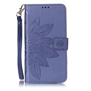 رخيصةأون حافظات / جرابات هواتف جالكسي S-غطاء من أجل Samsung Galaxy S7 edge / S7 / S6 edge محفظة / حامل البطاقات / مع حامل غطاء كامل للجسم زهور قاسي جلد PU