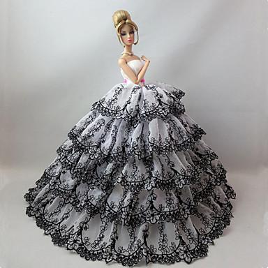 29d7604d91bf Πάρτι   Απόγευμα Φορέματα Για Barbiedoll Δαντέλα   Σατέν Φόρεμα Για Κορίτσια  κούκλα παιχνιδιών 5065281 2019 – €11.99