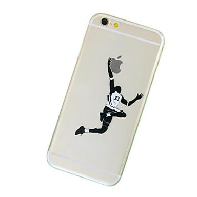 voordelige iPhone 6 Plus hoesjes-hoesje Voor Apple iPhone 7 Plus / iPhone 7 / iPhone 6s Plus Transparant / Patroon Achterkant Spelen met Apple-logo Zacht TPU