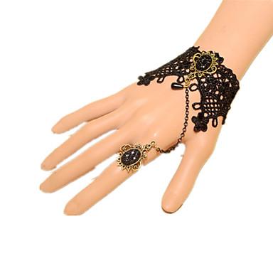Prințesă Rozen Kristall Ring Bracelets lolita Brățară slabă Gothic Style Modă Punk Jedna barva Stras Dantelă Pietre Prețioase Artificiale Aliaj Bijuterii Pentru Evenimente / Petrecere Bal Pentru femei