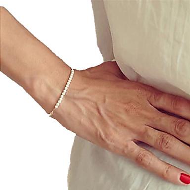 Pentru femei Perle Brățări cu Mărgele Plin de graţie femei Design Unic Cu Mărgele Modă Perle Bijuterii brățară Auriu / Alb Pentru Cadouri de Crăciun Petrecere Zilnic