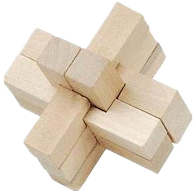 olcso Bűvészkellékek-Fából készült építőjátékok / IQ-elmejáték / Kong Ming Lock IQ teszt Fa Fiú / Lány Ajándék