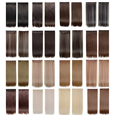 5 klipovi dugo ravno u boji 4/613 sintetičke kose Isječak ekstenzija za žene na raspolaganju više boja
