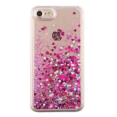 Недорогие Кейсы для iPhone 7-Кейс для Назначение IPhone 7 / iPhone 7 Plus / iPhone 6s Plus iPhone 8 Pluss / iPhone 8 / iPhone 7 Plus Движущаяся жидкость Кейс на заднюю панель С сердцем Твердый ПК