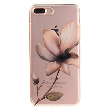hoesje Voor Apple iPhone 8 Plus / iPhone 8 / iPhone 7 Plus IMD / Transparant / Patroon Achterkant Bloem Zacht TPU
