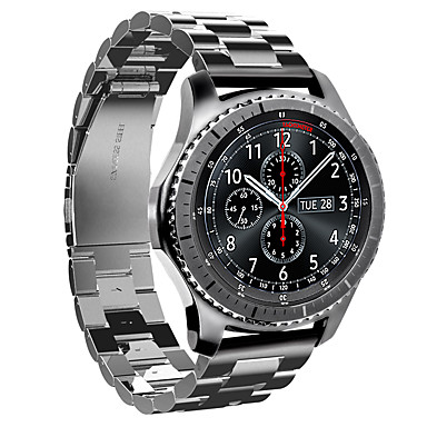 watch band for gear s3 frontier gear s3 classic samsung galaxy sport band stainless steel wrist. Black Bedroom Furniture Sets. Home Design Ideas
