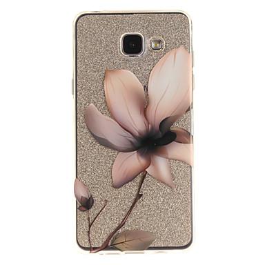 baratos Galaxy A3 Cases / Tampas-Capinha Para Samsung Galaxy A5(2016) / A3(2016) / A5 IMD / Transparente / Estampada Capa traseira Flor Macia TPU