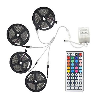povoljno LED strip svjetla-20m svjetlosni setovi 600 led 5050 smd 10 mm rgb daljinski upravljač / rc / cuttable / zatamniv / povezljiv / pogodan za vozila / samoljepljiv / mijenja boju / ip44