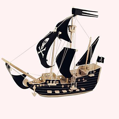 رخيصةأون 3D الألغاز-تركيب خشبي النماذج الخشبية سفينة قراصنة سفينة القراصنة قرصان المستوى المهني خشبي 1 pcs للأطفال للبالغين للصبيان للفتيات ألعاب هدية