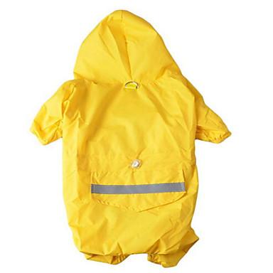 رخيصةأون ملابس وإكسسوارات الكلاب-كلب هوديس معطف المطر ملابس الكلاب الدفء تمويه اللون أصفر أحمر كوستيوم قماش لون سادة مقاومة الماء الرياضات XS S M L XL XXL