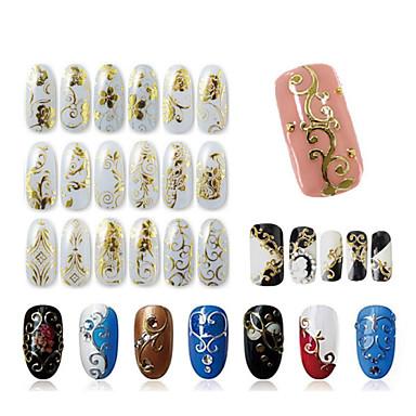 1 pcs 3D Acțibilduri de Unghii nail art pedichiura si manichiura Modă Zilnic / 3D pentru autocolante