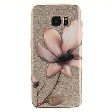 Недорогие Чехлы и кейсы для Galaxy S3-Кейс для Назначение SSamsung Galaxy S7 edge / S7 / S3 IMD / Прозрачный / С узором Кейс на заднюю панель Цветы Мягкий ТПУ