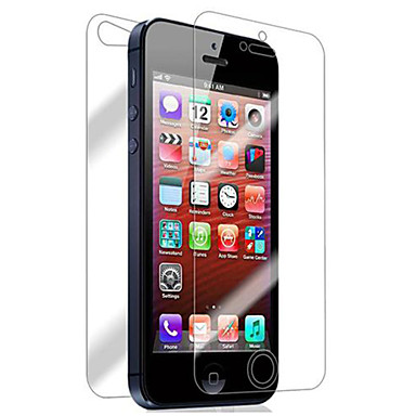 voordelige iPhone screenprotectors-Screenprotector voor Apple iPhone 6s / iPhone 6 / iPhone SE / 5s 2 pcts Voorkant- & achterkantbescherming