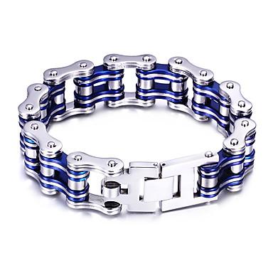 Heren Armbanden met ketting en sluiting Fietsen Gepersonaliseerde Modieus Roestvast staal Armband sieraden Zwart / Rood / Blauw Voor Feest Vuosipäivä Dagelijks Causaal