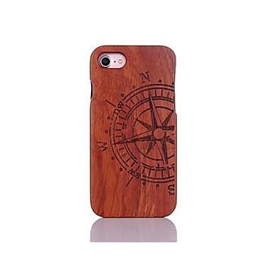 Недорогие Кейсы для iPhone 6-Кейс для Назначение Apple iPhone 7 Plus / iPhone 7 / iPhone 6s Plus Защита от удара / Рельефный / С узором Кейс на заднюю панель Слова / выражения Твердый деревянный