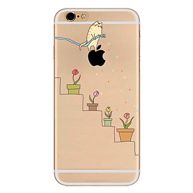 voordelige iPhone 7 Plus hoesjes-hoesje Voor Apple iPhone 7 Plus / iPhone 7 / iPhone 6s Plus Ultradun / Patroon Achterkant Spelen met Apple-logo Zacht TPU