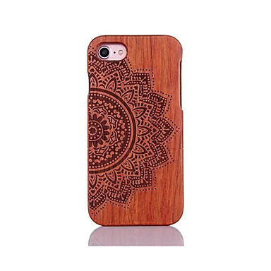 voordelige iPhone-hoesjes-hoesje Voor Apple iPhone 7 Plus / iPhone 7 / iPhone 6s Plus Schokbestendig / Reliëfopdruk / Patroon Achterkant Mandala / Bloem Hard Puinen