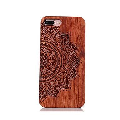 Недорогие Кейсы для iPhone 7 Plus-Кейс для Назначение IPhone 7 / iPhone 7 Plus / iPhone 6s Plus iPhone 7 Plus / iPhone 7 / iPhone 6s Plus Защита от удара / Рельефный / С узором Кейс на заднюю панель Мандала Твердый деревянный