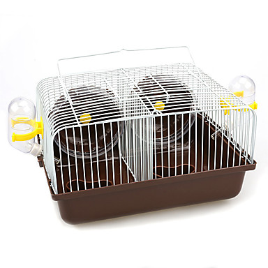 cheap Small Animals Accessories-Rodents Hamster Cages Multi-function Plastic Metal Blue Pink Coffee