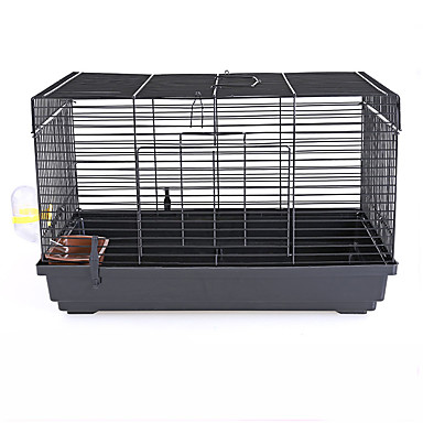 cheap Small Animals Accessories-Rodents / Rabbits / Chinchillas Plastic / Metal Cages Black / Blue / Pink